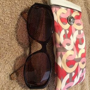 Coach sunglasses and coach case